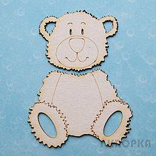 Polotovary - Výrez Deti - Teaddy bear - 8289256_