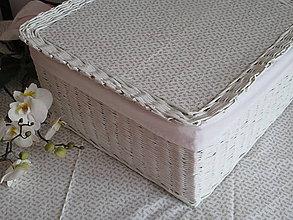 Košíky - Kôš - Biely s mašličkovým vchnákom - 8290228_