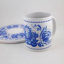 Nádoby - Šálka modré kvety 6 - 8290881_