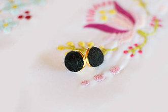 Náušnice - Plstené náušnice čierne z kolekcie