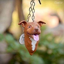 Kľúčenky - Americký pitbulteriér - kľúčenka podľa fotografie psa - 8288684_
