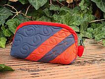 Taštičky - taštička červeno-modrá - 8289157_