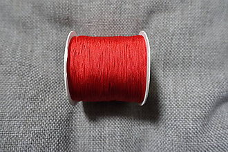 Galantéria - Nylonová šnúrka 0,5 mm Červená - 8289753_