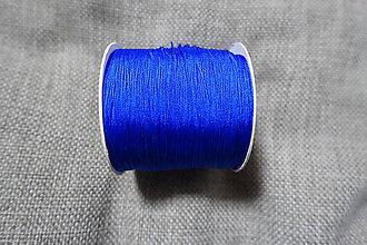 Galantéria - Nylonová šnúrka 0,5 mm kráľovská modrá - 8289762_