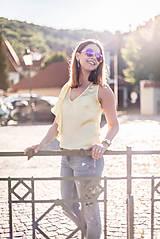 Tielka - Žltý top s volánom - 8289470_
