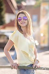 - Žltý top s volánom - 8289471_