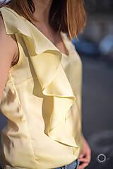Tielka - Žltý top s volánom - 8289472_