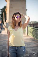 Tielka - Žltý top s volánom - 8289473_