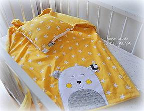 Textil - NOVINKA! Darčeková SADA Teddy žltá letná deka+vankúšik - 8293954_