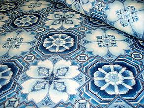 Textil - Exkluzívna bavlnená látka LA SCALA - Evening dlaždice - 8292885_