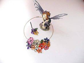 Iné šperky - vintage color flower - 8293020_