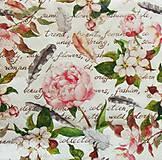 Papier - S1025 - Servítky - kvet, pierko, puk, kvetinky - 8292351_