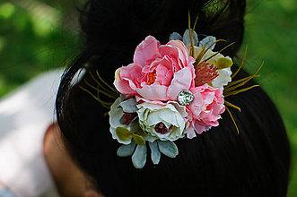 Ozdoby do vlasov - Kvetinové spestrenie - 8294913_