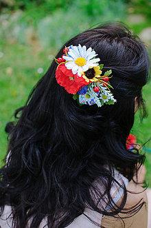 Ozdoby do vlasov - Lóra trikolóra - 8294920_