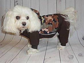 Pre zvieratká - SOFTSHELL- OVÝ OVERAL- CAMO - 8293863_