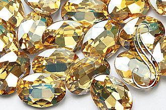 Komponenty - kabošon sklenený golden shadow oval 13x18 - 8293539_