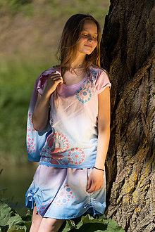 Tričká - Dámske tričko batikované, maľované, etno YAMUNA - 8293698_