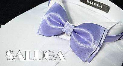 Doplnky - Pánsky fialový motýlik - svetlý fialový - 8291897_