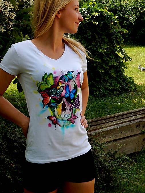 89734a3a2 Dámske tričko krátky rukáv -Motýlia lebka / StudioMawu - SAShE.sk ...