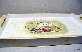 Nádoby - drevený podnos Tea time - 8294053_