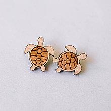 Náušnice - korytnačky - napichovačky - 8294275_