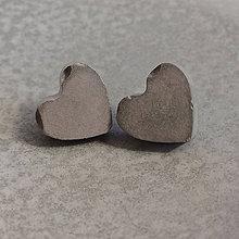 Náušnice - Betónky Hearts gray (srdce) - 8293097_