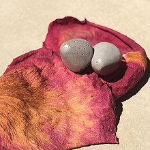 Náušnice - Betónky Mound gray - 8293157_
