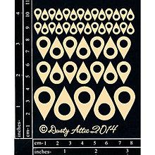 Papier - Dusty Attic - Geo Tags - Mapové značky (lepenkové výrezy) - 8291359_
