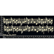 Papier - Dusty Attic - Music - Noty (bordúra z lepenky na scrapbooking) - 8291749_