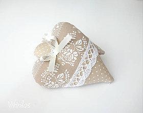 Darčeky pre svadobčanov - Srdiečka folk...béžové - 8293822_