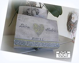 "Krabičky - Svadobná krabica ""Vintage heart"" :) - 8294748_"