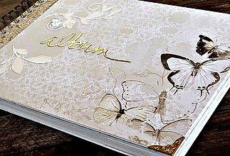 Papiernictvo - Elegantný,decentný svadobný album/rodinný album/narodeninový/k promócii - 8293241_