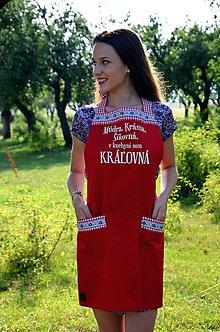 Iné oblečenie - Kuchynská zástera Kráľovná - 8295046_