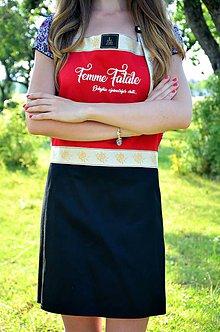 Iné oblečenie - Luxusná kuchynská zástera Femme Fatale - 8295060_