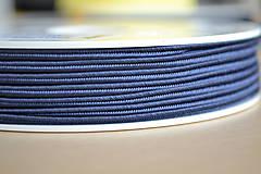 Galantéria - Šujtášová šnúrka denim blue 3mm, 0.22€/meter - 8293186_