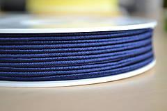 Galantéria - Šujtášová šnúrka navy blue 3mm, 0.25€/meter - 8293198_