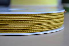Galantéria - Šujtášová šnúrka kurkuma 3mm, 0.25€/meter - 8293216_