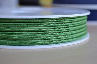 Galantéria - Šujtášová šnúrka trávová 3mm, 0.25€/meter - 8293048_