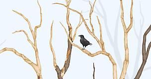 Grafika - RAVEN IN FOREST - BLUE - 8292443_
