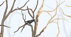 Grafika - RAVEN IN FOREST - BLUE - 8292445_