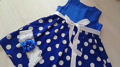 Detské oblečenie - Dievčenské šaty - modrice - 8296079_