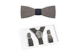 Doplnky - Drevený set Aliq Suspenders & Aliq - 8295466_