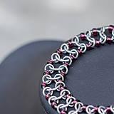 Náramky - Náramok stopa od pneumatik - ametyst - 8296802_