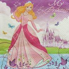 Papier - S1028 - Servítky - barbie, princezná, princess, zámok - 8296473_