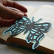 Papiernictvo - Modrý motýľ... - 8296344_