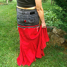 Sukne - Gothic red - 8298494_