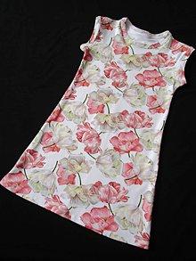 Detské oblečenie - Šaty kvety v bielom - 8296814_