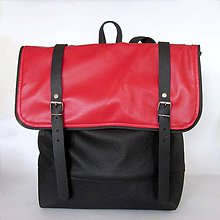 Batohy - Batoh (červeno-čierny) - 8295953_