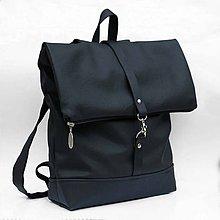 Batohy - Batoh (roll-backpack čierny) - 8296004_