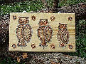 Nábytok - Dekoračný vešiak-sovia rodinka - 8296863_